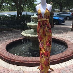 Like new, Sky colorful maxi dress Sz. M (4/6)